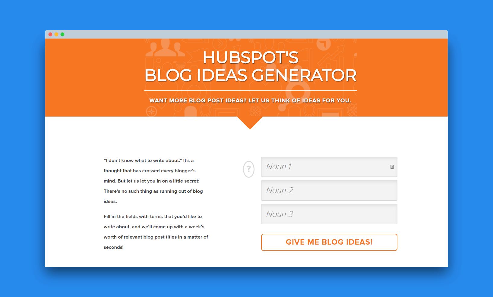 hubspot leads generator